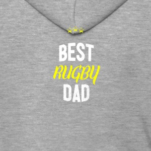 Distressed - BEST RUGBY DAD - Felpa con zip Premium da uomo