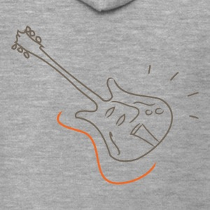 Guitar - Jazz Life Collection - Felpa con zip Premium da uomo
