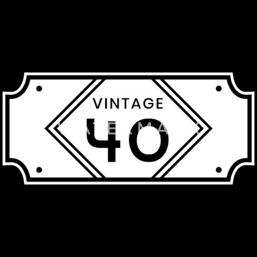 Vintage 40 Geburtstag Geschenk Spruch Lustig Manner Premium