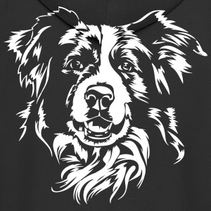 Border Collie - Rozpinana bluza męska z kapturem Premium