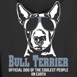 BULL TERRIER coolest people - Men's Premium Hooded Jacket