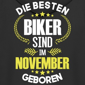 The best bikers are born in November - Men's Premium Hooded Jacket