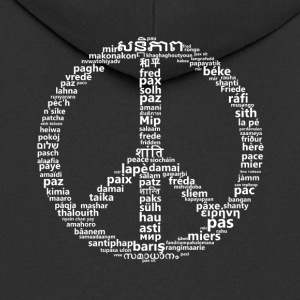 Peace peace sign in 100 languages ​​world peace - Men's Premium Hooded Jacket