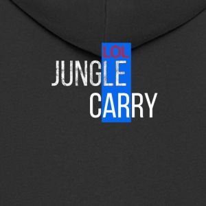 T-shirt lol Jungle Carry League karaktär - Premium-Luvjacka herr