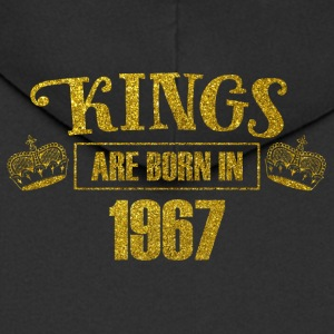 Kings are born in 1967 - Birthday Koenigsgold - Men's Premium Hooded Jacket