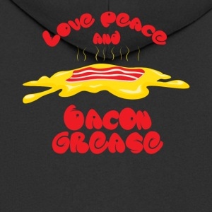 Love, Peace and Bacon grease - Männer Premium Kapuzenjacke