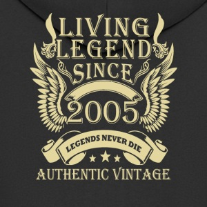 Living Legends Sinds 2005 Authentic Vintage - Mannenjack Premium met capuchon