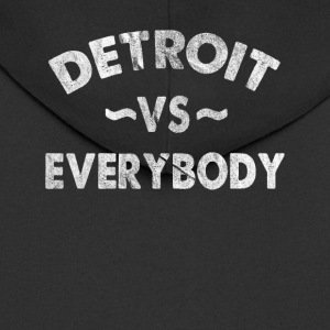 Detroit VS All Everybody Hip hop Gangsta Rap - Felpa con zip Premium da uomo