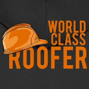 Roofing: World Class Roofer - Men's Premium Hooded Jacket