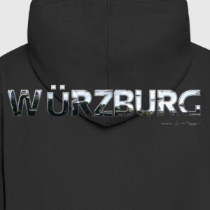 Würzburg my city of favorite region - Men's Premium Hooded Jacket