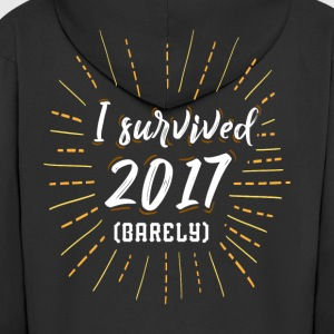 I survived 2017 barely funny shirt for sylvester - Men's Premium Hooded Jacket