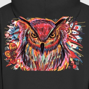 Owl Color Splash - Men's Premium Hooded Jacket