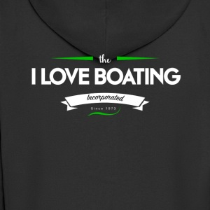 boating_logo_3 - Men's Premium Hooded Jacket