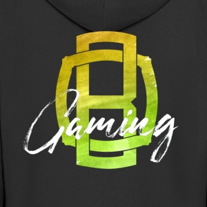 OB Gaming / White lettering - Men's Premium Hooded Jacket
