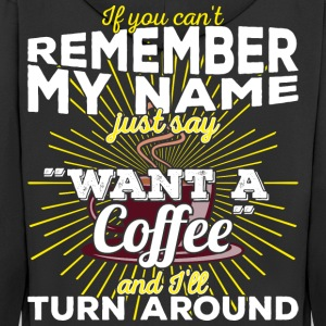 Coffee Quotes > Just say want a coffee - Männer Premium Kapuzenjacke