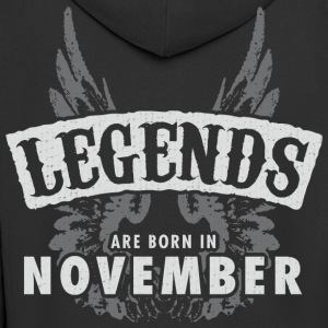 Legends are born in November Wings - Men's Premium Hooded Jacket