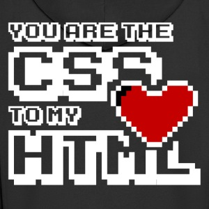 You are the css to my html - Rozpinana bluza męska z kapturem Premium
