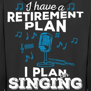 Retirement plan singing (light) - Men's Premium Hooded Jacket