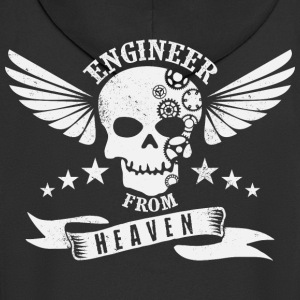 Engineer from Heaven - Men's Premium Hooded Jacket