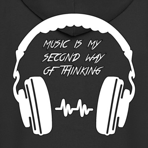 Music-is-my-second-way of thinking - Felpa con zip Premium da uomo