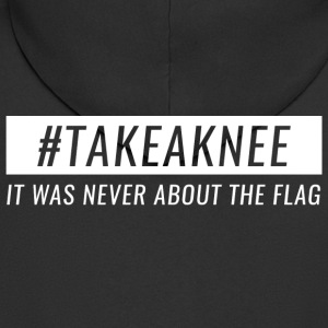 Take A Knee I 'm With Cape Shirt Never About Flag 3 - Men's Premium Hooded Jacket