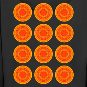 Retro Circles, orange - Men's Premium Hooded Jacket