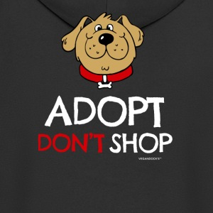Pet adoption Tshirt (Adopt Don't Shop - Dog) - Männer Premium Kapuzenjacke
