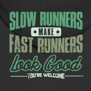 RUNNER RUNNER: SLOW RUNNERS FAST RUNNERS GIFT - Men's Premium Hooded Jacket