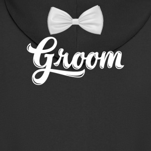 Mens Bachelor Party Shirt Groom Z Bow Tie Light - Rozpinana bluza męska z kapturem Premium
