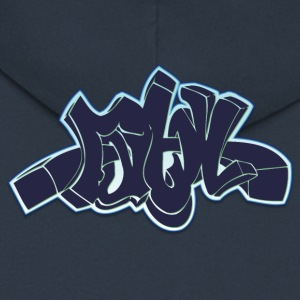 ma graffiti neon - Men's Premium Hooded Jacket
