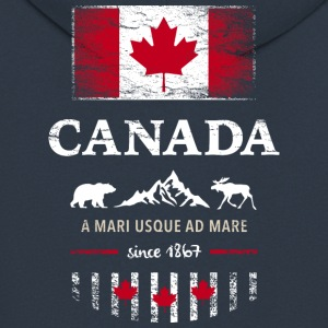 Canada Canada America maple leaf flag banner Bear - Men's Premium Hooded Jacket
