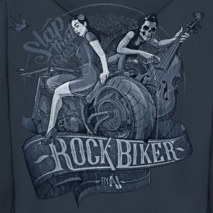 Rock Biker Slap That Bass (Blueprint) - Männer Premium Kapuzenjacke