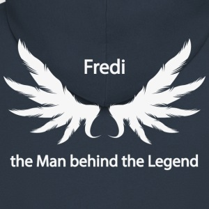 Fredi the Man behind the Legend - Men's Premium Hooded Jacket