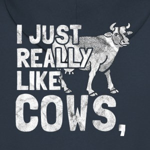 I Love Cows - gift for a farmer - Men's Premium Hooded Jacket
