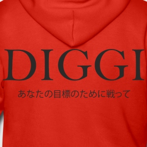 Diggi - Fighting for your goals - Men's Premium Hooded Jacket
