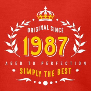 original since 1987 simply the best 30th birthday - Men's Premium Hooded Jacket