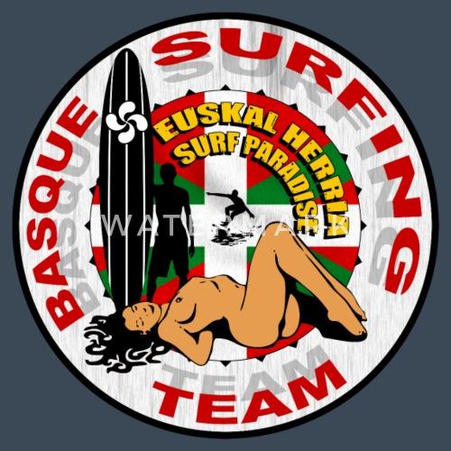 Basque Surfing Team - Chaqueta con capucha premium hombre. detrás. detrás.  Diseño 4d91733108f