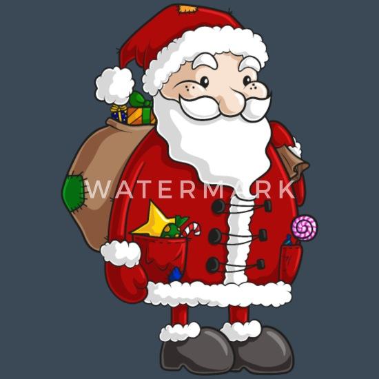 Süßer Comic Weihnachtsmann Männer Premium Kapuzenjacke Anthrazit