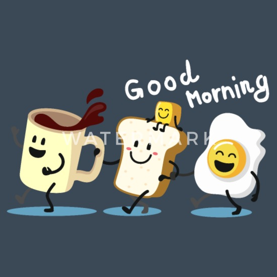Guten Morgen Frühstück Kaffee Toast Spiegele Männer