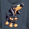Funny Dachshund - Men's Premium Hooded Jacket