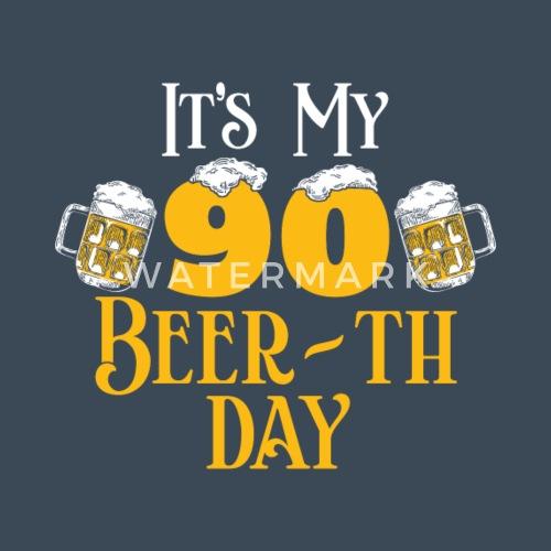 90 90 Geburtstag Geschenk Bier Beer Geschenkidee Manner Premium
