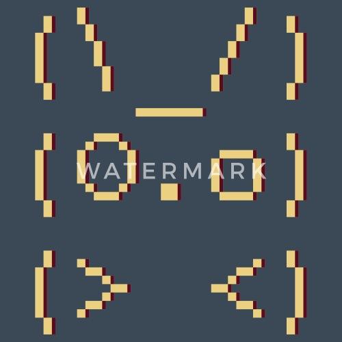 Ascii Art Bunny Mens Premium Zip Hoodie Spreadshirt