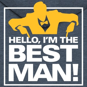 Hello, I'm The Best Man! - Men's Premium Hooded Jacket