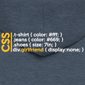 CSS Jokes - Many Clothes, But No Girlfriend! - Men's Premium Hooded Jacket