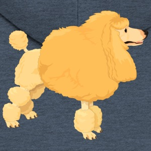 Yellow poodle - Men's Premium Hooded Jacket