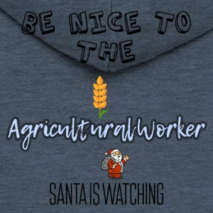 Be nice to the Agricultural worker Santa watch it - Männer Premium Kapuzenjacke