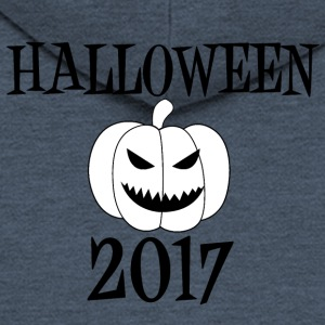 Hallowen 2017 Pumpkin Witch Mummy Pirate Cowboy - Men's Premium Hooded Jacket