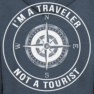 I'm a Traveler, Not a Tourist - Men's Premium Hooded Jacket