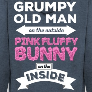 Grumpy Pink Fluffy Bunny - Men's Premium Hooded Jacket