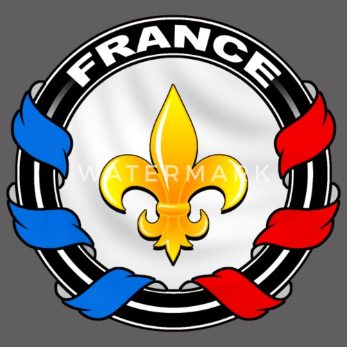 dbaba2ca432a2 France fleur de lys Veste à capuche premium Homme   Spreadshirt